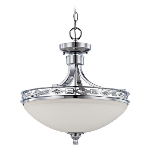 Craftmade Lighting Craftmade Saratoga Chrome Convertible Semi-Flushmount 37553-CH