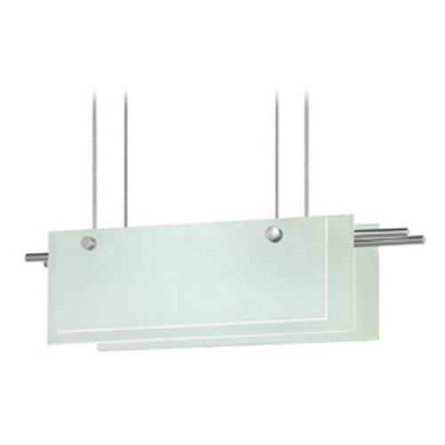 Sonneman Lighting Sonneman Lighting Suspended Satin Nickel LED Pendant Light with Rectangle Shade 3216.13LED