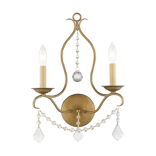Livex Lighting Livex Lighting Chesterfield Antique Gold Leaf Sconce 6422-48