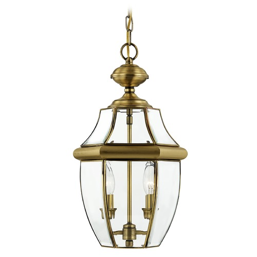 Livex Lighting Livex Lighting Monterey Antique Brass Outdoor Hanging Light 2255-01