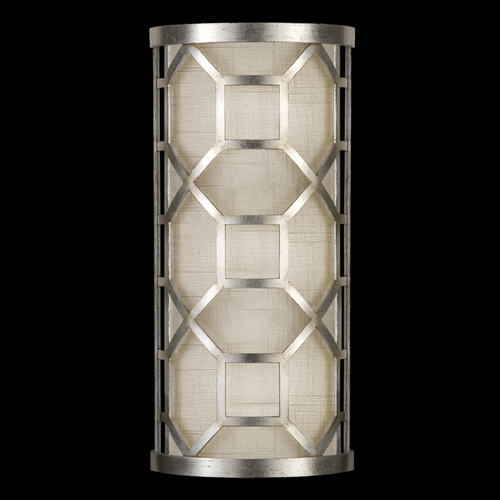 Fine Art Lamps Fine Art Lamps Allegretto Silver Platinized Silver Leaf with Subtle Brown Highlights Sconce 816750GU