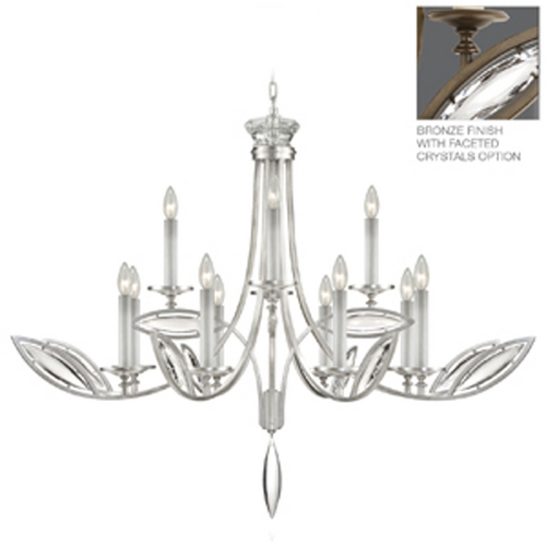 Fine Art Lamps Fine Art Lamps Marquise Antique Hand Rubbed Bronze Crystal Chandelier 843740-32ST
