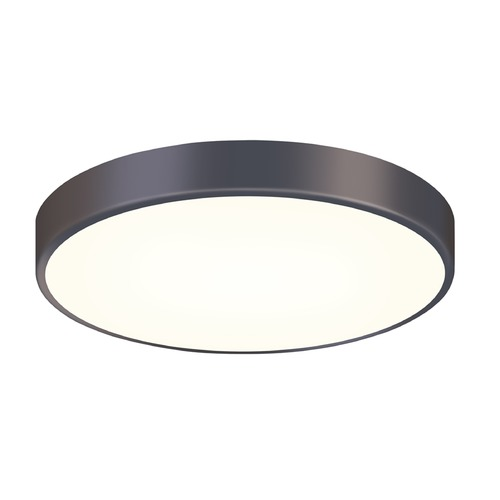 Sonneman Lighting Sonneman Pi Black Bronze LED Flushmount Light with Drum Shade 2747.32