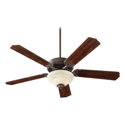 Quorum Lighting Quorum Lighting Capri Iv Oiled Bronze Ceiling Fan with Light 77525-2486