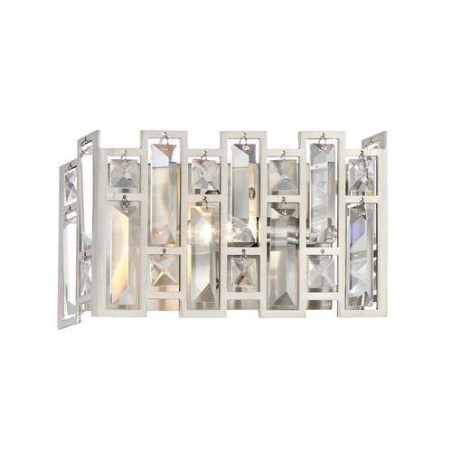 Designers Fountain Lighting Designers Fountain West 65th Satin Platinum Sconce 88201-SP