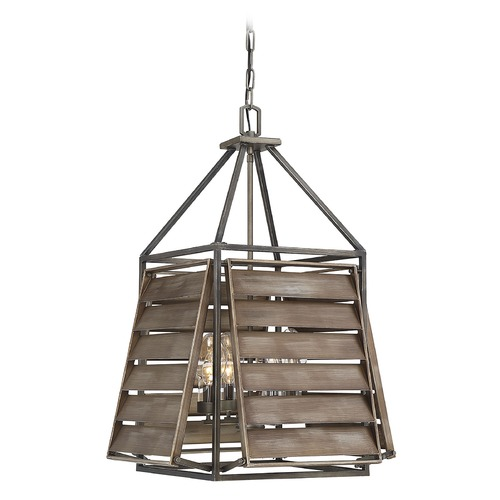 Savoy House Savoy House Lighting Hartberg Aged Driftwood Outdoor Hanging Light 7-9341-4-162