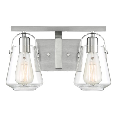 Satco Lighting Satco Lighting Skybridge Brushed Nickel Bathroom Light 60/7112