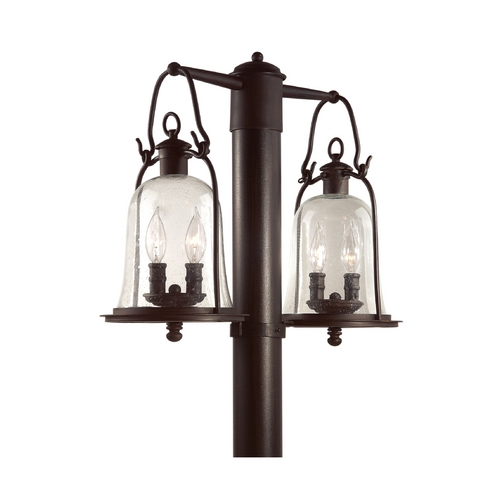 Troy Lighting Post Light with Clear Glass in Natural Bronze Finish P9464NB