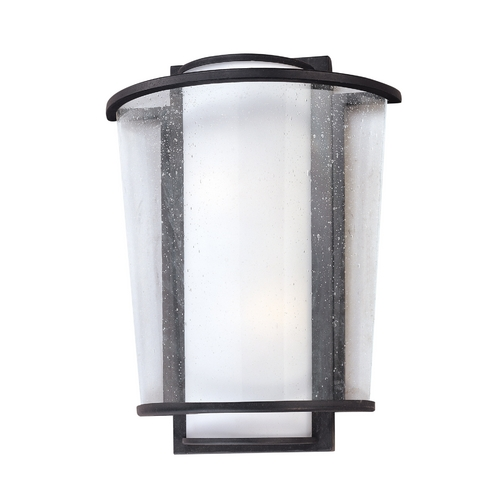 Troy Lighting Modern Sconce Wall Light with White Glass in Forged Bronze Finish B1351FBZ
