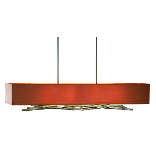 Hubbardton Forge Lighting Iron Island Pendant Light with Four Lights 137660-08-590