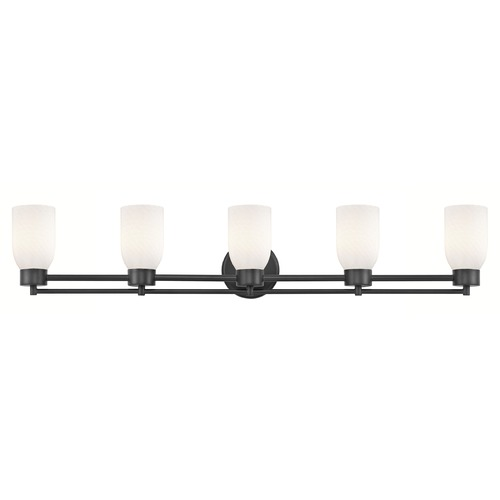 Design Classics Lighting Modern Bathroom Light White Glass Black 5 Lt 706-07 GL1020D