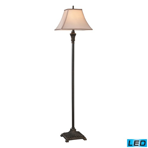 Dimond Lighting Dimond Lighting Brown LED Floor Lamp with Square Shade D2370-LED