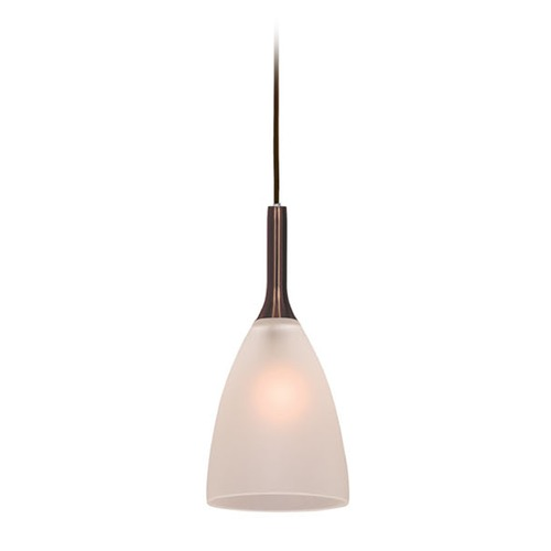 Access Lighting Access Lighting Delta Bronze Mini-Pendant Light with Bowl / Dome Shade 97119-BRZ/FST
