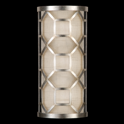 Fine Art Lamps Fine Art Lamps Allegretto Silver Platinized Silver Leaf with Subtle Brown Highlights Sconce 816850GU