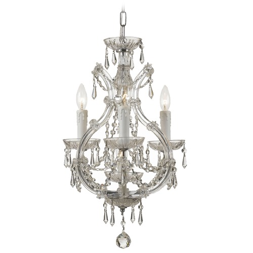 Crystorama Lighting Crystorama Lighting Maria Theresa Chrome Crystal Chandelier 4473-CH-CL-I