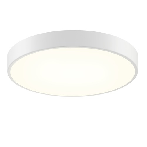 Sonneman Lighting Sonneman Pi Textured White LED Flushmount Light with Drum Shade 2747.98