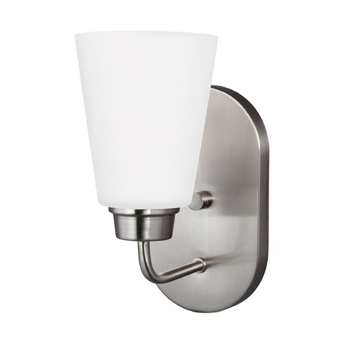 Sea Gull Lighting Sea Gull Kerrville Brushed Nickel Sconce 4115201-962