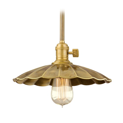 Hudson Valley Lighting Hudson Valley Lighting Heirloom Old Bronze Pendant Light with Scalloped Shade 9001-OB-MS3