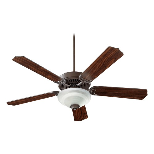 Quorum Lighting Quorum Lighting Capri Iv Oiled Bronze Ceiling Fan with Light 77525-2586