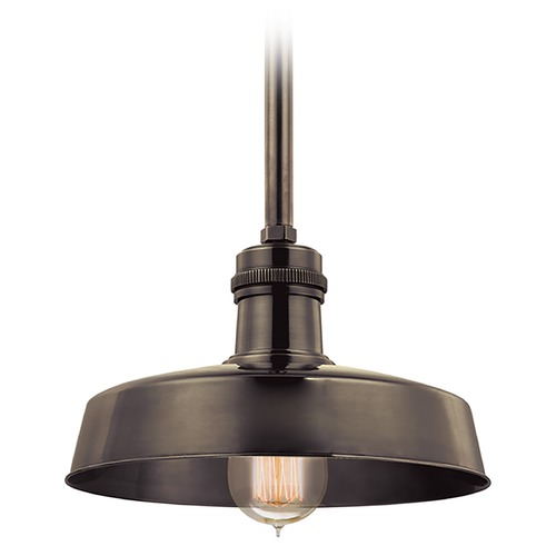 Hudson Valley Lighting Hudson Valley Lighting Hudson Falls Distressed Bronze Mini-Pendant Light with Warehouse Shade 8610-DB