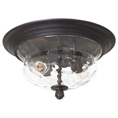 Minka Lavery Close To Ceiling Light with Clear Glass in Corona Bronze Finish 8769-166