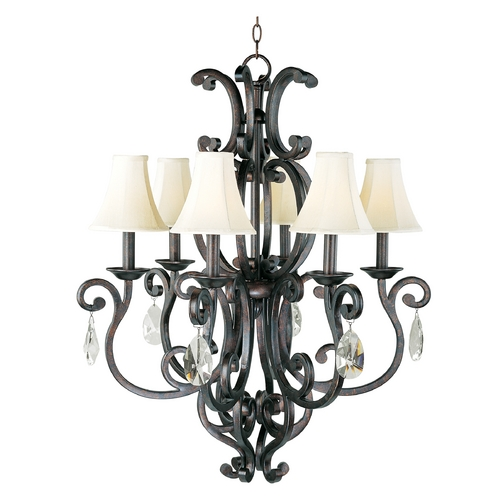 Maxim Lighting Maxim Lighting Richmond Colonial Umber Crystal Chandelier 31005CU/CRY083