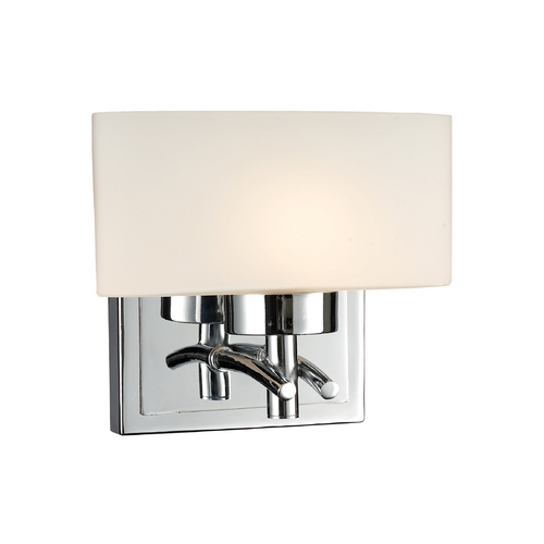 Elk Lighting Modern Sconce with White Glass in Polished Chrome Finish 17080/1