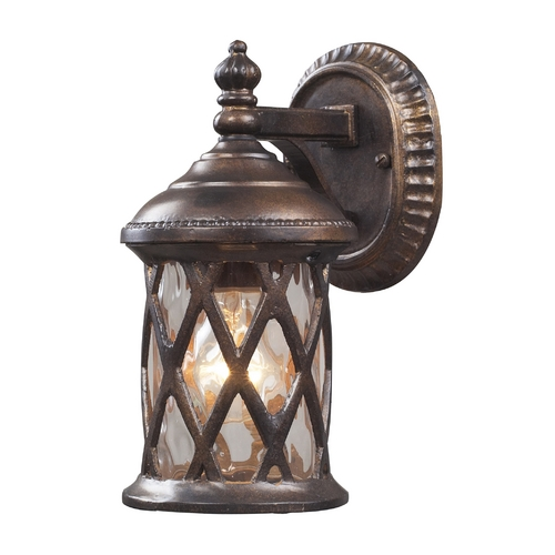 Elk Lighting Outdoor Wall Light with Clear Glass in Hazlenut Bronze Finish 42036/1