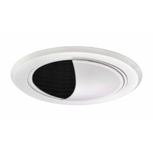 Recesso Lighting by Dolan Designs Black Airtight Wall Washer Trim for 5-Inch Recessed Cans T520B-WH