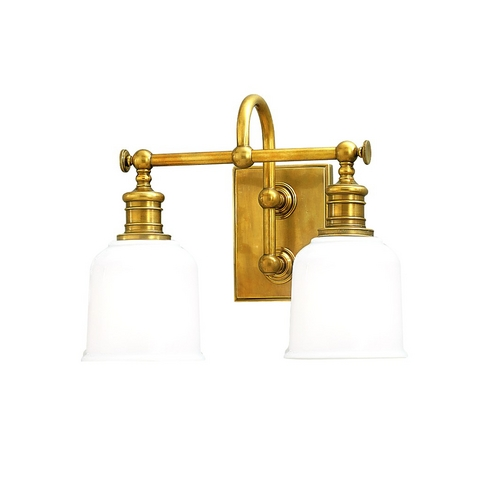 Hudson Valley Lighting Vintage Style Aged Brass Bathroom Wall Light 1972-AGB