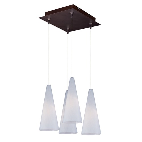 ET2 Lighting Minx Bronze Multi-Light Pendant with Conical Shade E94728-101BZ
