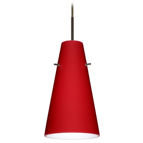 Besa Lighting Besa Lighting Cierro Bronze LED Mini-Pendant Light with Conical Shade 1JT-4124RM-LED-BR