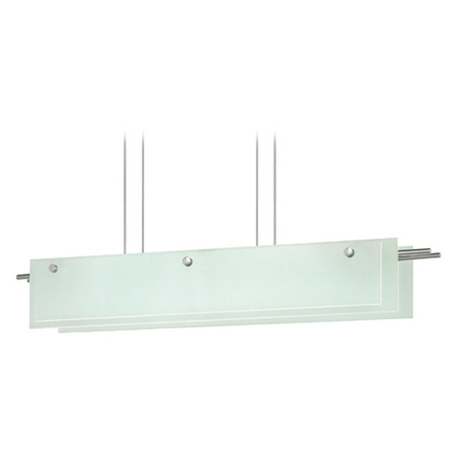 Sonneman Lighting Sonneman Lighting Suspended Satin Nickel LED Pendant Light with Rectangle Shade 3218.13LED