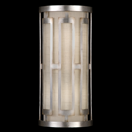 Fine Art Lamps Fine Art Lamps Allegretto Silver Platinized Silver Leaf with Subtle Brown Highlights Sconce 817150GU