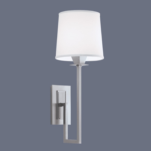 Norwell Lighting Norwell Lighting Maya Brush Nickel Sconce 9675-BN-WS