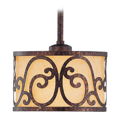 Savoy House Savoy House New Tortoise Shell Mini-Pendant Light with Drum Shade 7-015-1-56