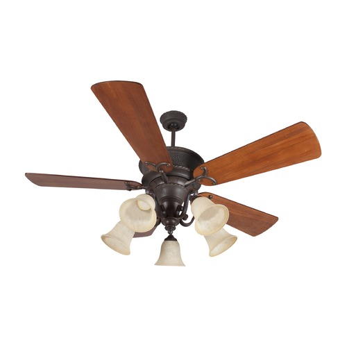 Craftmade Lighting Craftmade Lighting Riata Aged Bronze Textured Ceiling Fan with Light K11155
