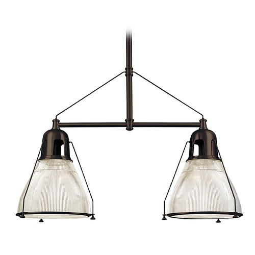 Hudson Valley Lighting Hudson Valley Lighting Haverhill Old Bronze Island Light with Bowl / Dome Shade 7312-OB