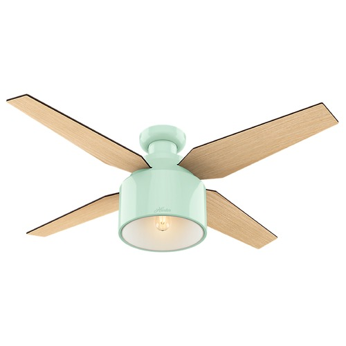 Hunter Fan Company Hunter Fan Company Cranbrook Low Profile Mint LED Ceiling Fan with Light 59260