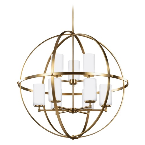 Sea Gull Lighting Sea Gull Lighting Alturas Satin Bronze Pendant Light with Cylindrical Shade 3124609-848