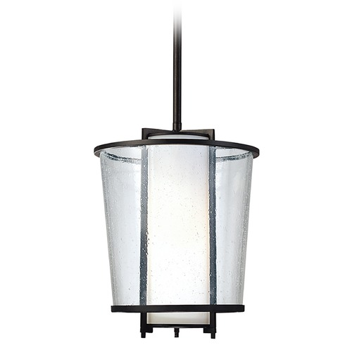 Troy Lighting Modern Mini-Pendant Light with White Glass F1357FBZ