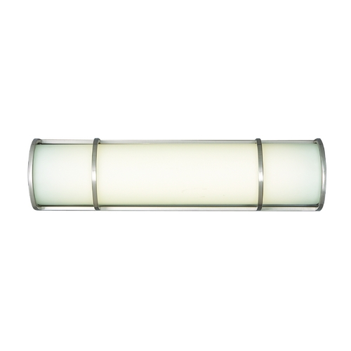 Philips Lighting Modern Bathroom Light with White Glass in Satin Nickel Finish F351036U