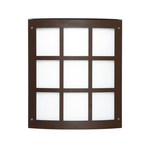 Besa Lighting Contemporary / Modern Outdoor Wall Light Bronze Moto by Besa Lighting 106-842107-BR