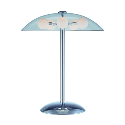 Lite Source Lighting Lite Source Lighting Triska Chrome Table Lamp with Bowl / Dome Shade LS-20737C/FRO