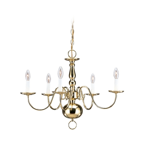 Sea Gull Lighting Chandelier in Polished Brass Finish 3410-02