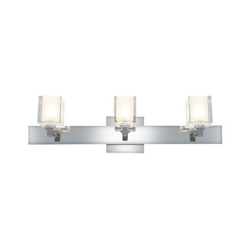 Access Lighting Modern Bathroom Light with White Glass in Chrome Finish 23917-CH/FCL