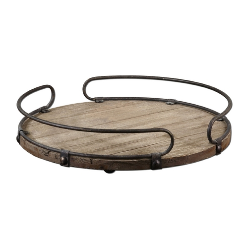 Uttermost Lighting Tray in Natural Fir Wood Finish 19727