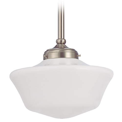Design Classics Lighting 12-Inch Retro Style Schoolhouse Pendant Light FA4-09 / GA12