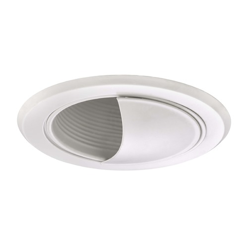 Recesso Lighting by Dolan Designs White Airtight Wall Washer Trim for 5-Inch Recessed Cans T520W-WH