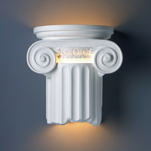 Justice Design Group Sconce Wall Light in Bisque Finish CER-4715-BIS